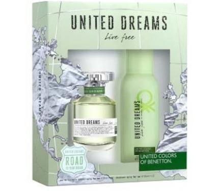 Benetton United Dreams Live Free Подаръчен комплект за жени