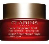 Clarins Super Restorative Night All Skin Types Дълбоко подхранващ нощен крем без опаковка