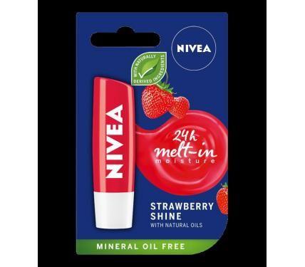 NIVEA Балсам за устни Strawberry Shine