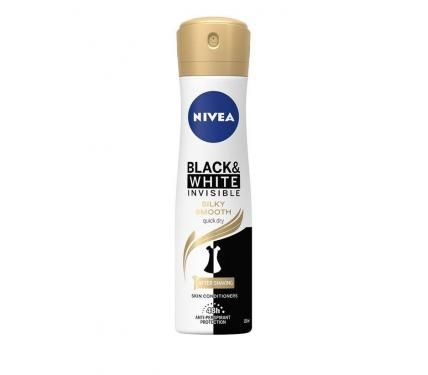 NIVEA Deo Спрей дамски Invisible on Black & White Silky Smooth
