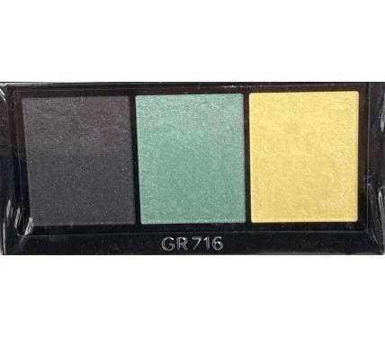 Shiseido Luminizing Satin Eye Color Trio GR716 Сенки за очи без опаковка