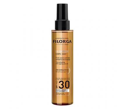Filorga UV Bronze Body Anti Ageing Sun Oil SPF 30 Слънцезащитно сухо олио за тяло с подмладяващ ефект
